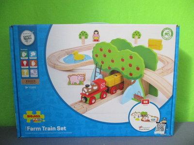 Houten treinset boerderij