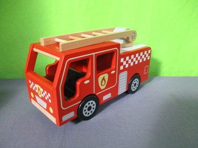 Houten brandweerauto Bigjigs