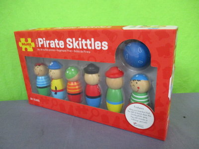 Houten kegelspel Piraten