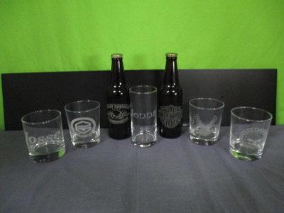 Graveren glas fles