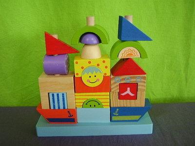 Houten bouwpuzzel boot
