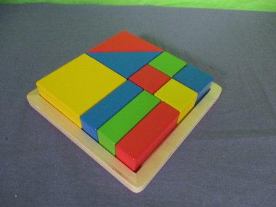 Blokken puzzel in frame