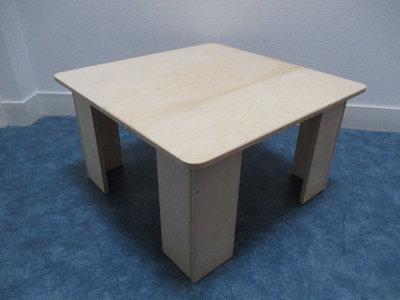 Kubus kindertafel houten (zelf ophalen wordt niet verstuurd)