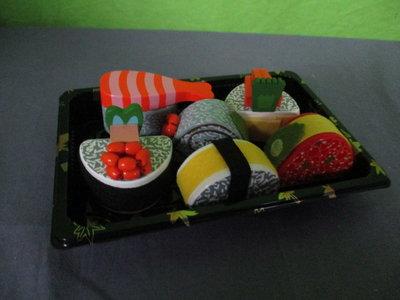 Sushi set van hout