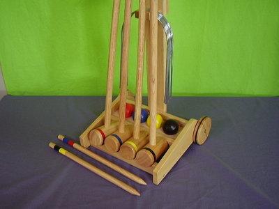 Houten croquetspel simply.