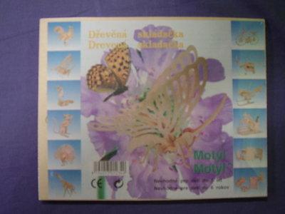 Houten bouwpakket vlinder.