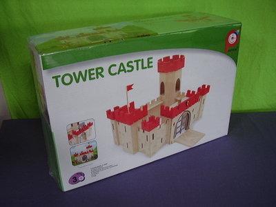 Houten kasteel toren.