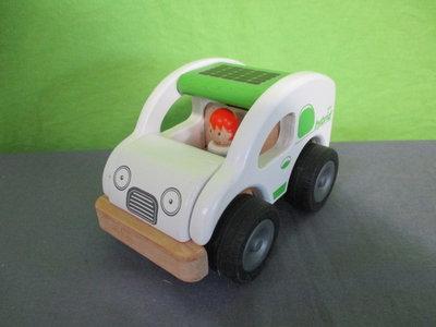 Houten eco hybrid auto
