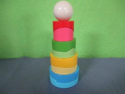 Houten ronde stapel toren